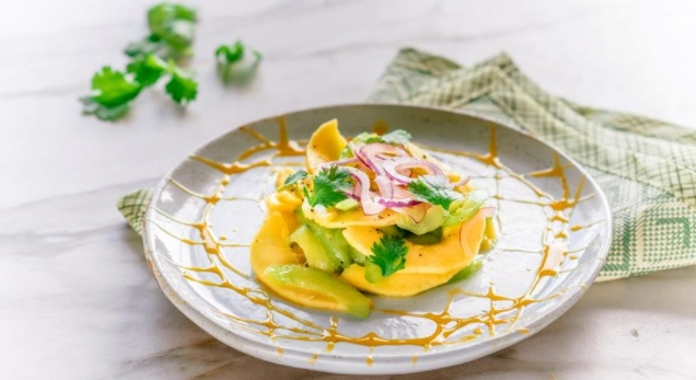 Cucumber Salad with Mango