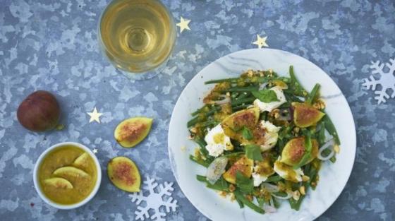 Mozzarella, Figs and Beans Salad