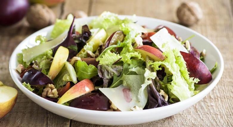 Apple, Plum and Cherry Tomato Salad