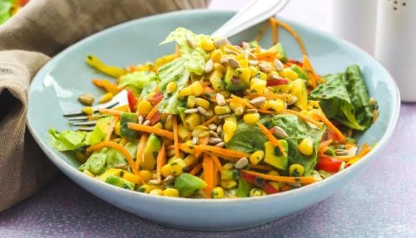 Vegetable Salad with Orange Dressing