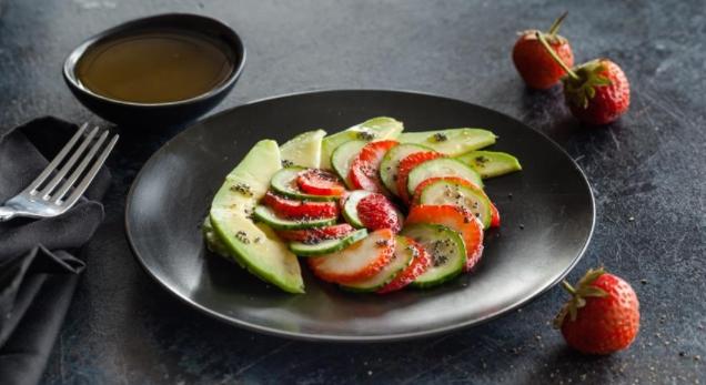 Strawberry, Cucumber and Avocado Salad