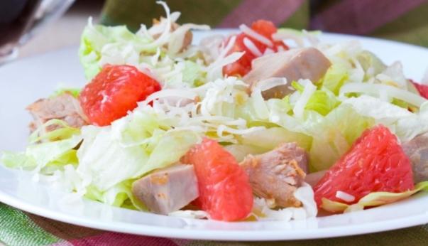 Grapefruit and Chicken Salad