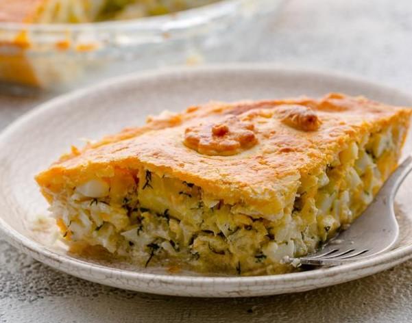 Tilapia Pie on Crispy Dough