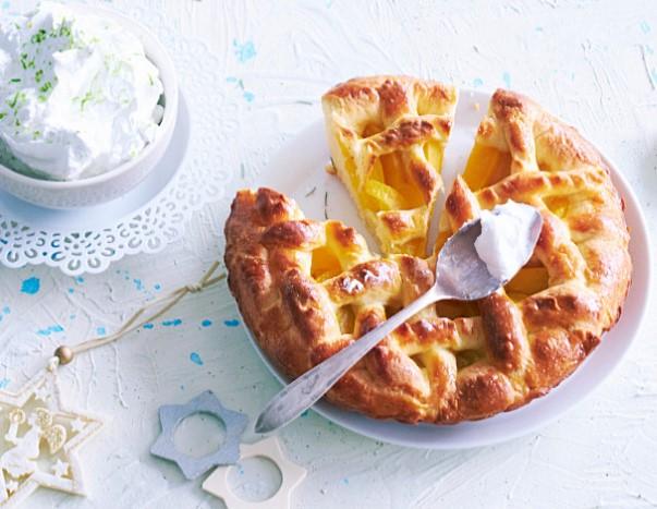 Nectarine Pie with Whipped Cream