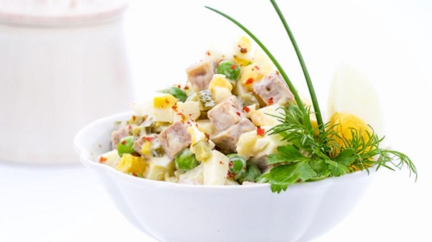 Olivier Salad with Chicken