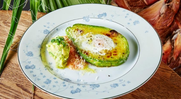 Fried eggs in Avocado