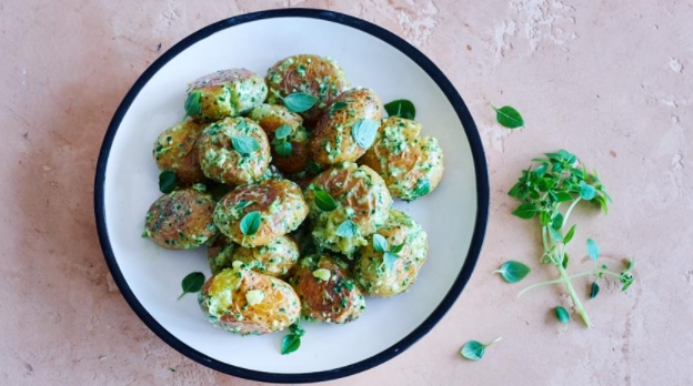 Potatoes in Pesto