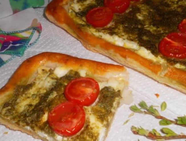 Ricotta Pie with Pesto