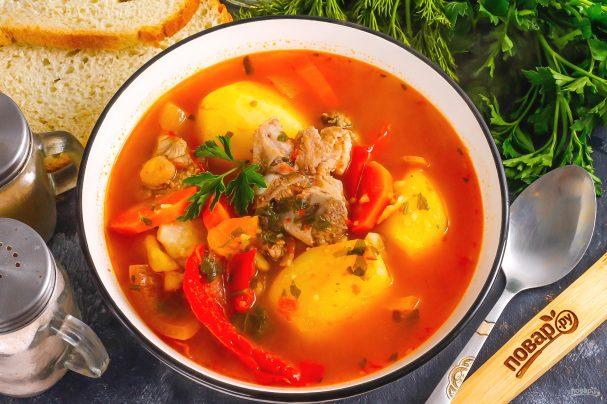 Armenian lamb soup