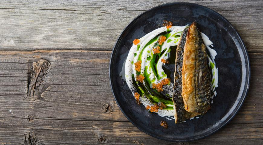 Grilled mackerel fillet from the Norwegian sea