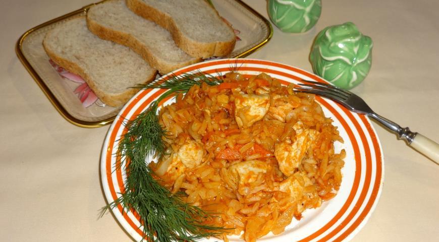 Lahanorizo with chicken