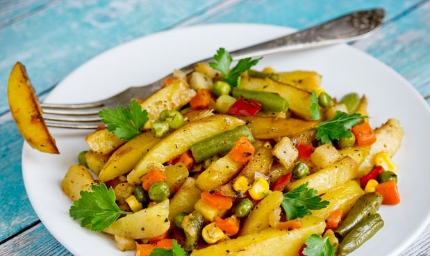 Fried potatoes with