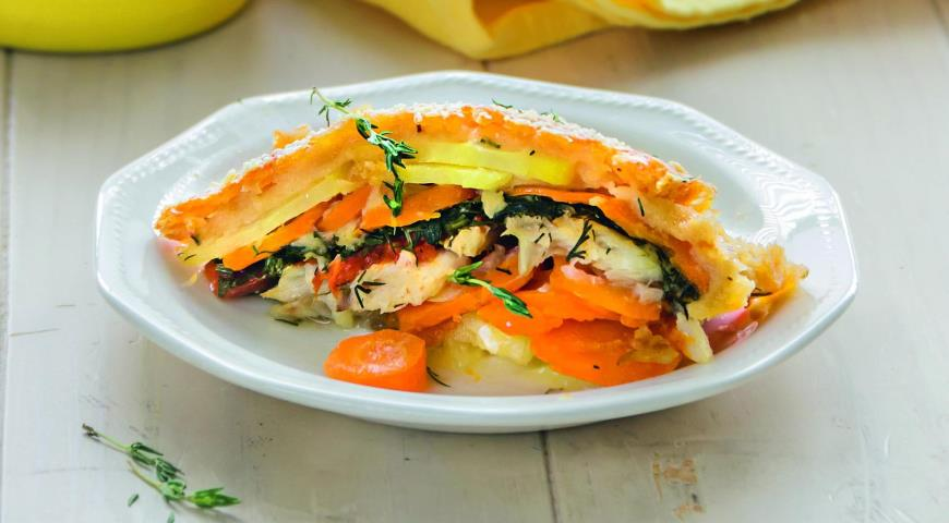Cod casserole with vegetables