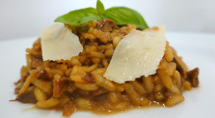 Risotto with mushrooms 2