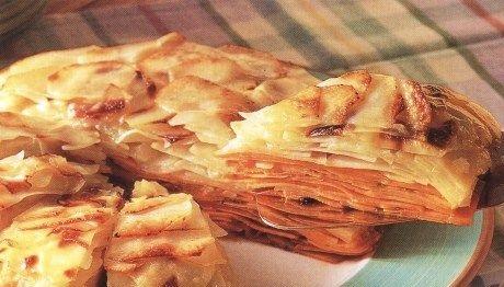 Layered baked potatoes