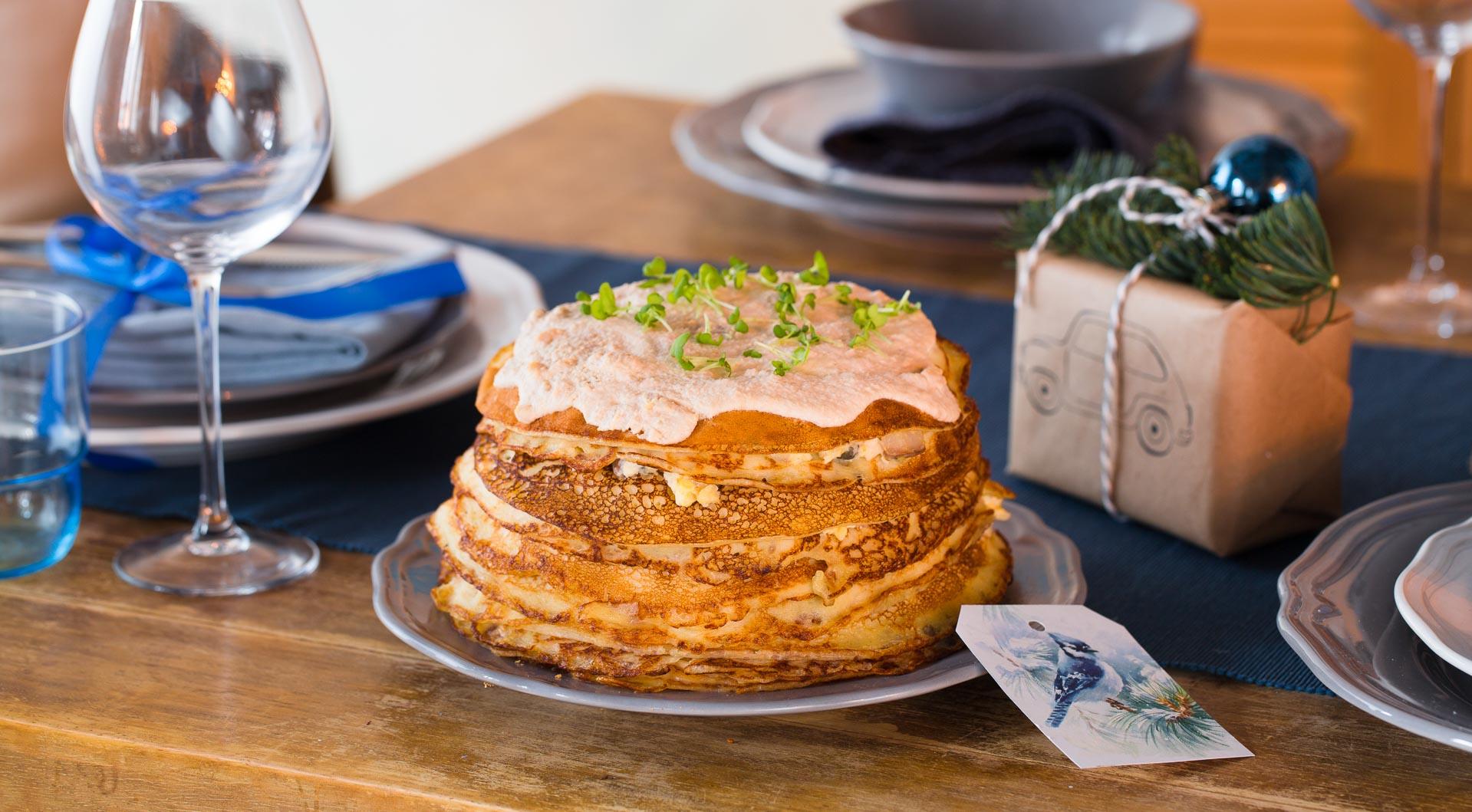 Snack pancake cake