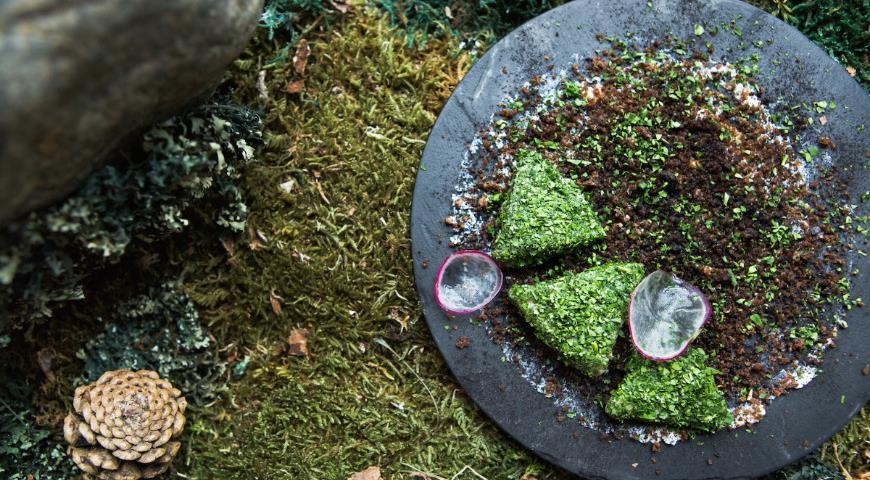 Pickled herring in herbs