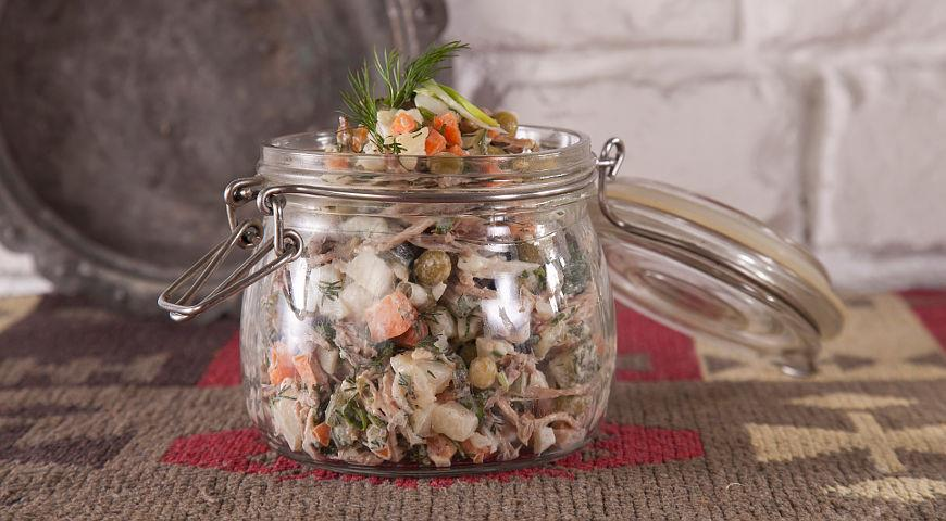 Olivier Salad with Beef