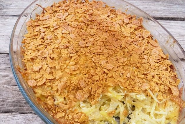 Potato casserole with cornflakes