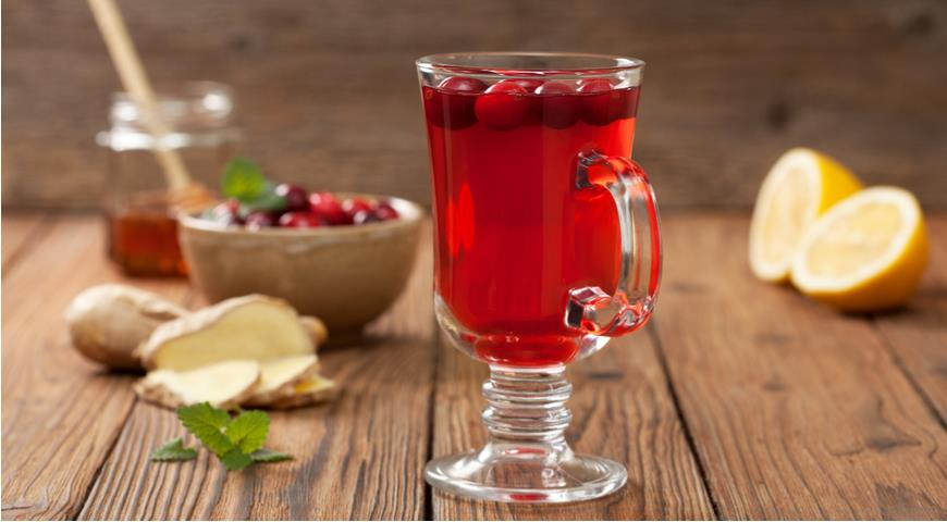 Spicy cranberry juice for colds
