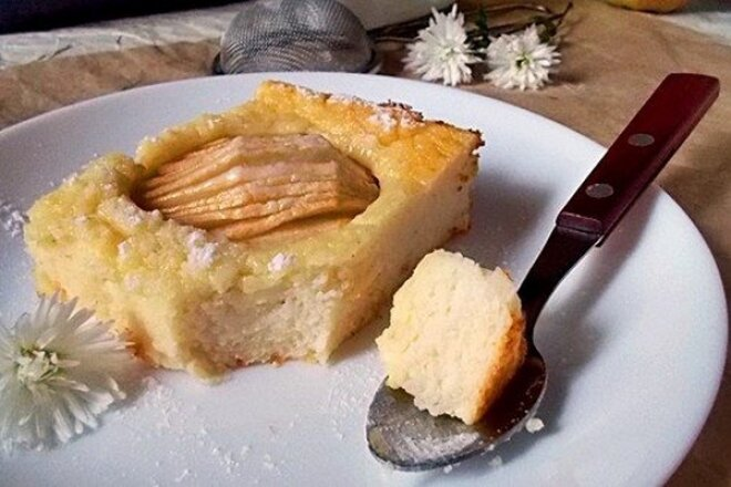 Semolina Casserole With Apples And Cottage Cheese