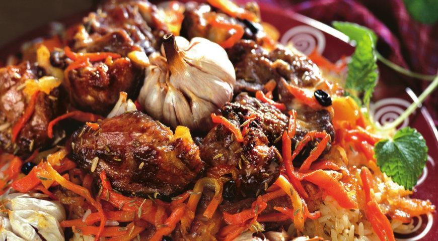 Uzbek pilaf with lamb