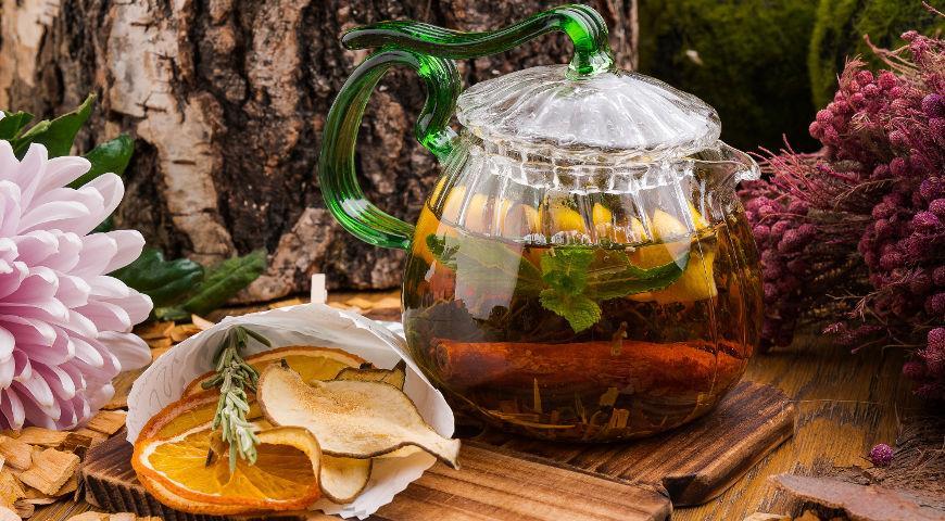 Homemade smoked tea