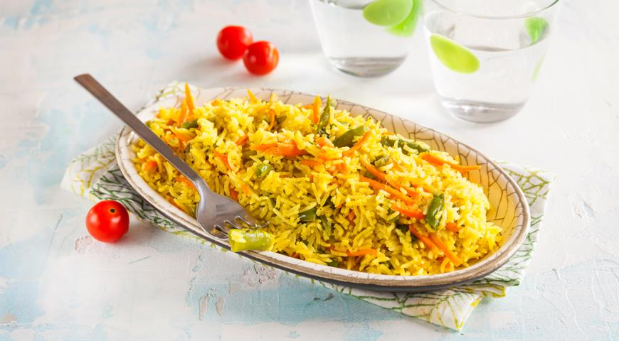 Indian style vegetable pilaf