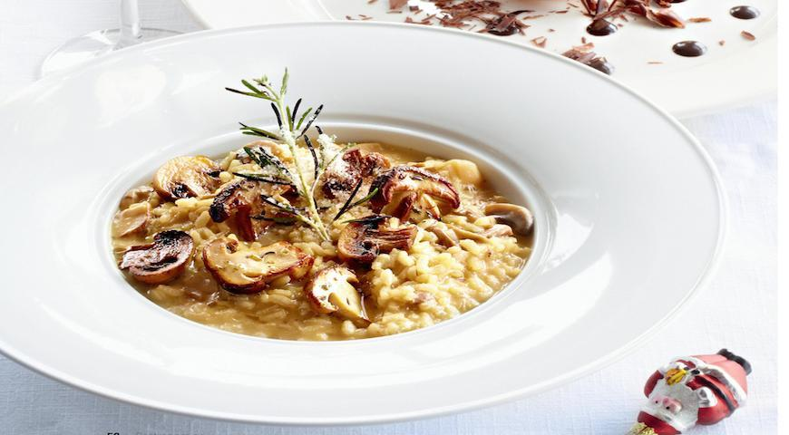 Risotto with mushrooms 3