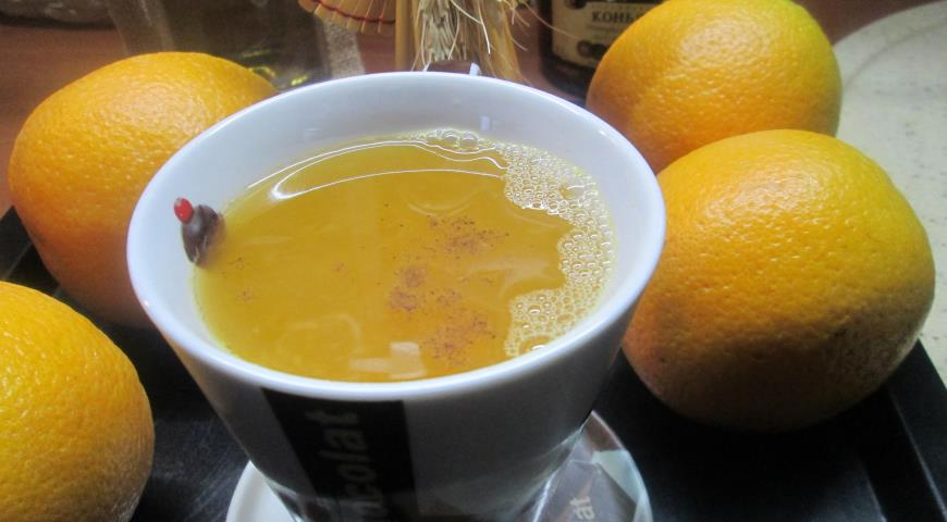 Orange tea with cognac