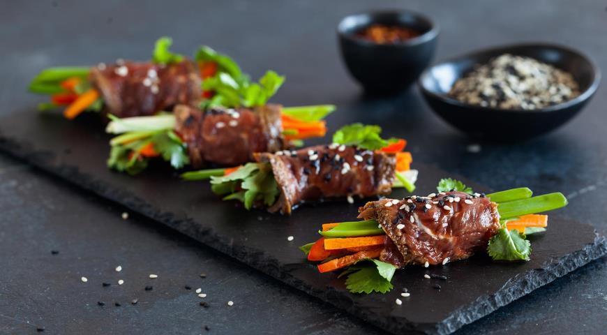 Rolls of Beef Tataki