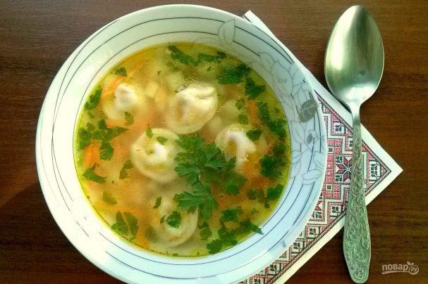 Grandma's soup with dumplings