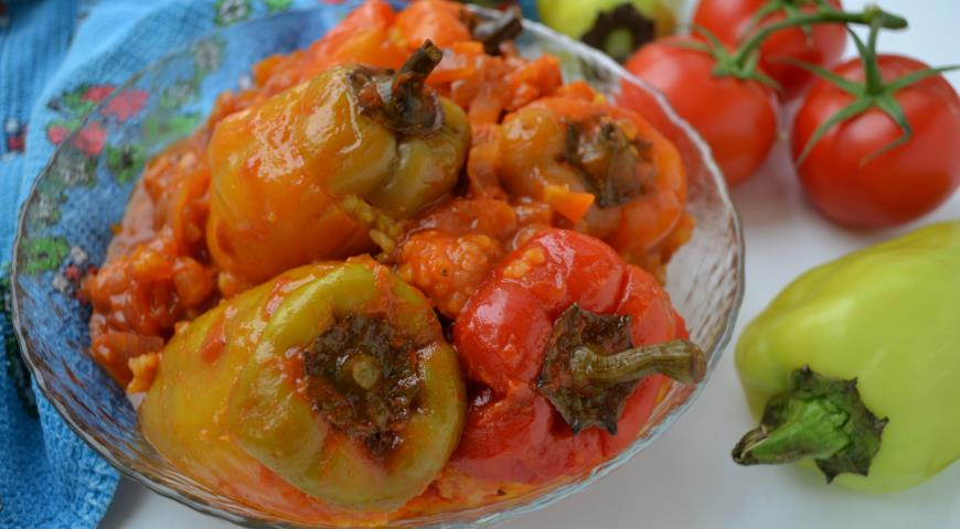 Peppers with rice