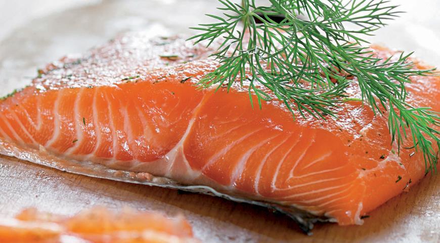 Lightly salted salmon