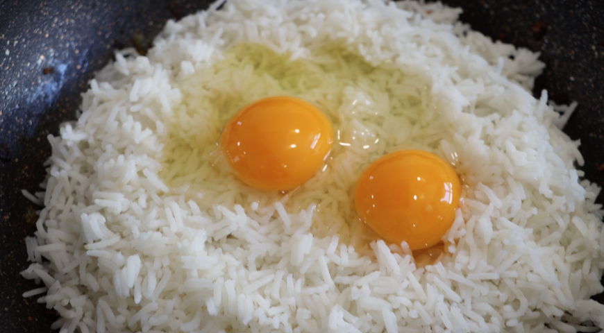 Rice with vegetables and soy sauce