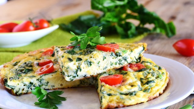 Frittata with spinach