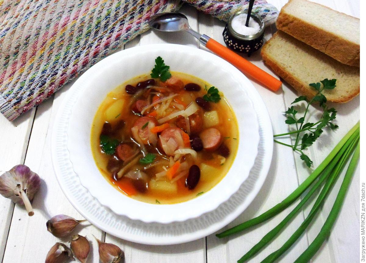 Sausage soup in German