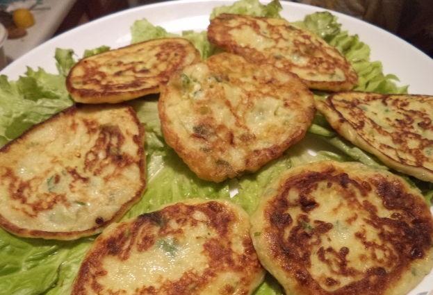 Potato pancakes with zucchini