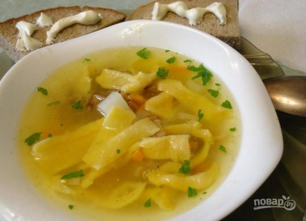 Children's soup with beef broth
