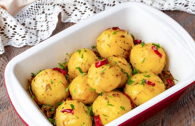 Best  Spicy baked potatoes