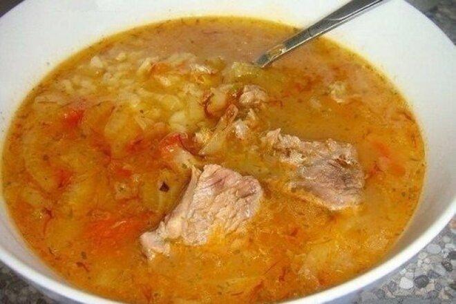 Georgian kharcho soup with walnuts