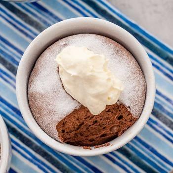 Chocolate keto souffle