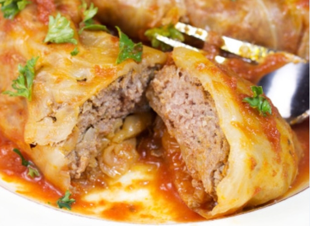 Keto minced beef cabbage rolls