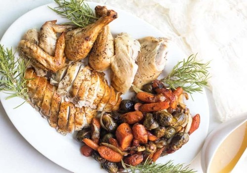 Keto baked chicken with vegetables