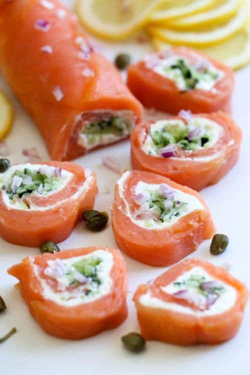 Keto rolls with salmon (no rice)
