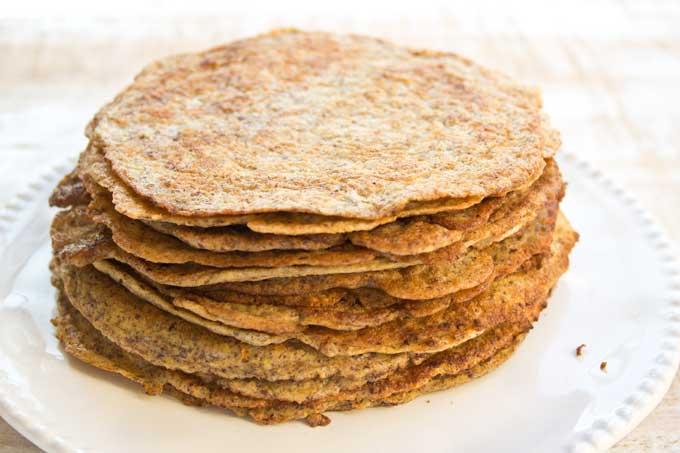 Keto flaxseed pancakes