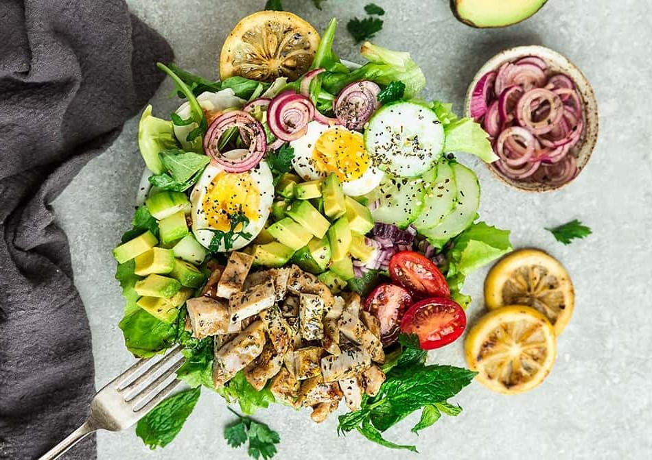 Keto Shawarma Salad with Chicken