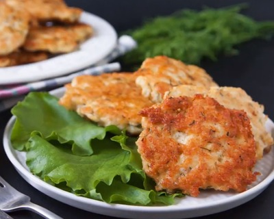 Keto minced chicken and cheese cutlets