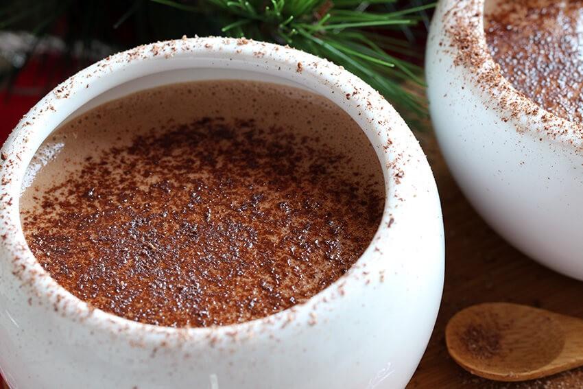 Keto cocoa with cream