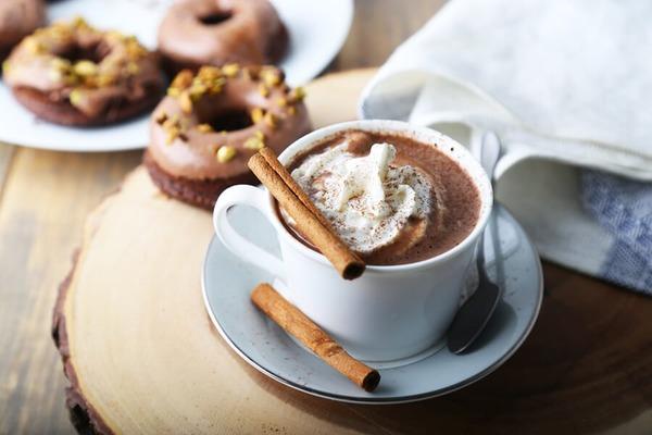 Keto cocoa with coconut milk